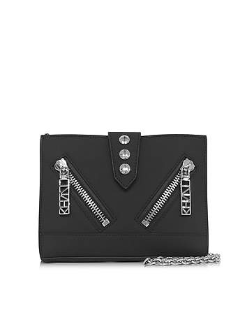 Kenzo - Black Gommato Leather Kalifornia Wallet w/Chain Strap