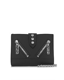 Black Gommato Leather Kalifornia Wallet w/Chain Strap - Kenzo