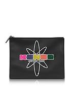 Kenzo Nasa Clutch in Pelle Nera con Logo Gommato - kenzo - it.forzieri.com