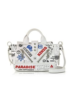 White Leather Mini Kalifornia x Flyers - Kenzo