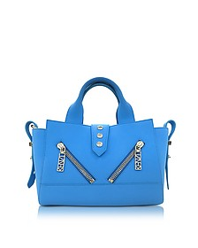 Sky Blue Soft Rubberized Gommato Leather Mini Kalifornia Satchel - Kenzo