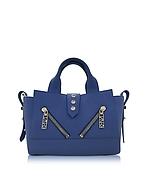Kenzo Mini Kalifornia Bag in Pelle Gommato Blu Notte - kenzo - it.forzieri.com