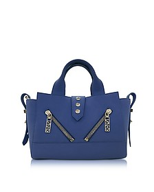 Dark Blue Soft Rubberized Gommato Leather Mini Kalifornia Satchel - Kenzo