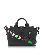 Kenzo Mini Kalifornia Bag  x Badges in Pelle Gommato Nera - kenzo - it.forzieri.com