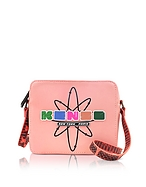 Kenzo Nasa Camera Bag Borsa Rosa Corallo con Tracolla e Logo Gommato - kenzo - it.forzieri.com