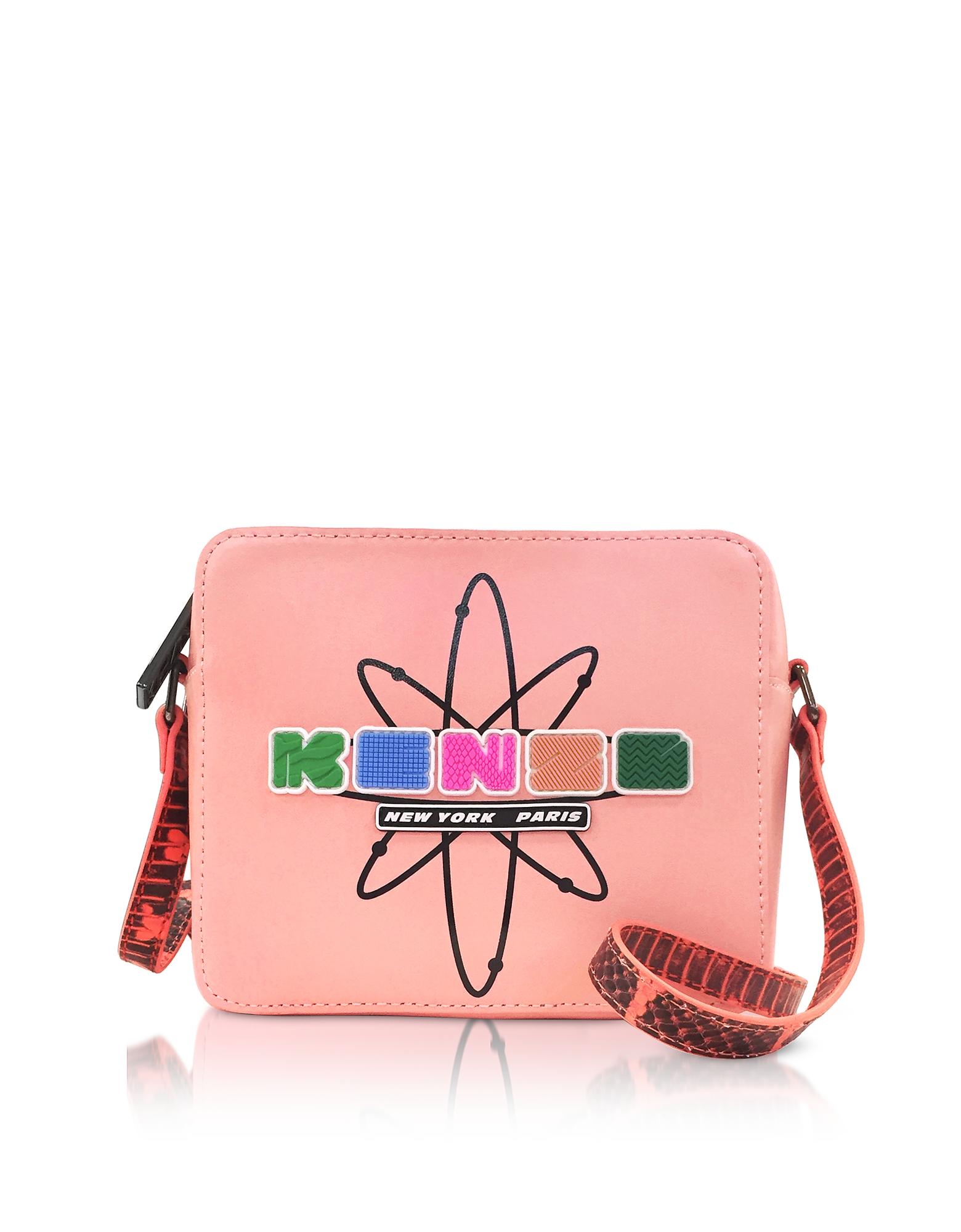 Фото Nasa - Кораллово Розовая Кожаная Сумка Через Плечо. Купить с доставкой