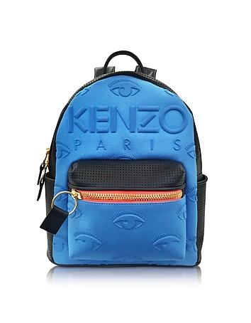 Kenzo - Metallic Denim Blue and Leather Kombo Backpack