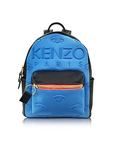 Metallic Denim Blue and Leather Kombo Backpack - Kenzo