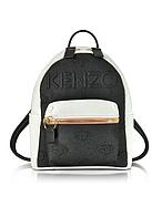 Kenzo Zaino Kombo in Denim Nero Metallizzato e Pelle - kenzo - it.forzieri.com