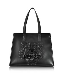Metallic Black Tiger Tote Bag - Kenzo