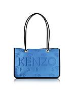 Kenzo Shopper Kombo in Pelle e Neoprene Color Block con Logo - kenzo - it.forzieri.com