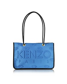 Sky Blue Neoprene and Leather Kombo Tote Bag - Kenzo