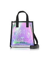 Kenzo Mini Shopper Tiger in Eco Pelle Nera Metallizzata - kenzo - it.forzieri.com