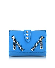 Sky Blue Gommato Leather Kalifornia Wallet on Chain  - Kenzo