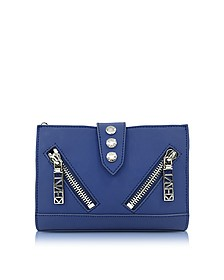Dark Blue Gommato Leather Kalifornia Wallet on Chain - Kenzo