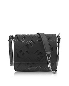 Black Laser Cut Flying Logo Shoulder Bag - Kenzo