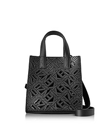 Black Laser Cut Flying Logo Tote Bag - Kenzo