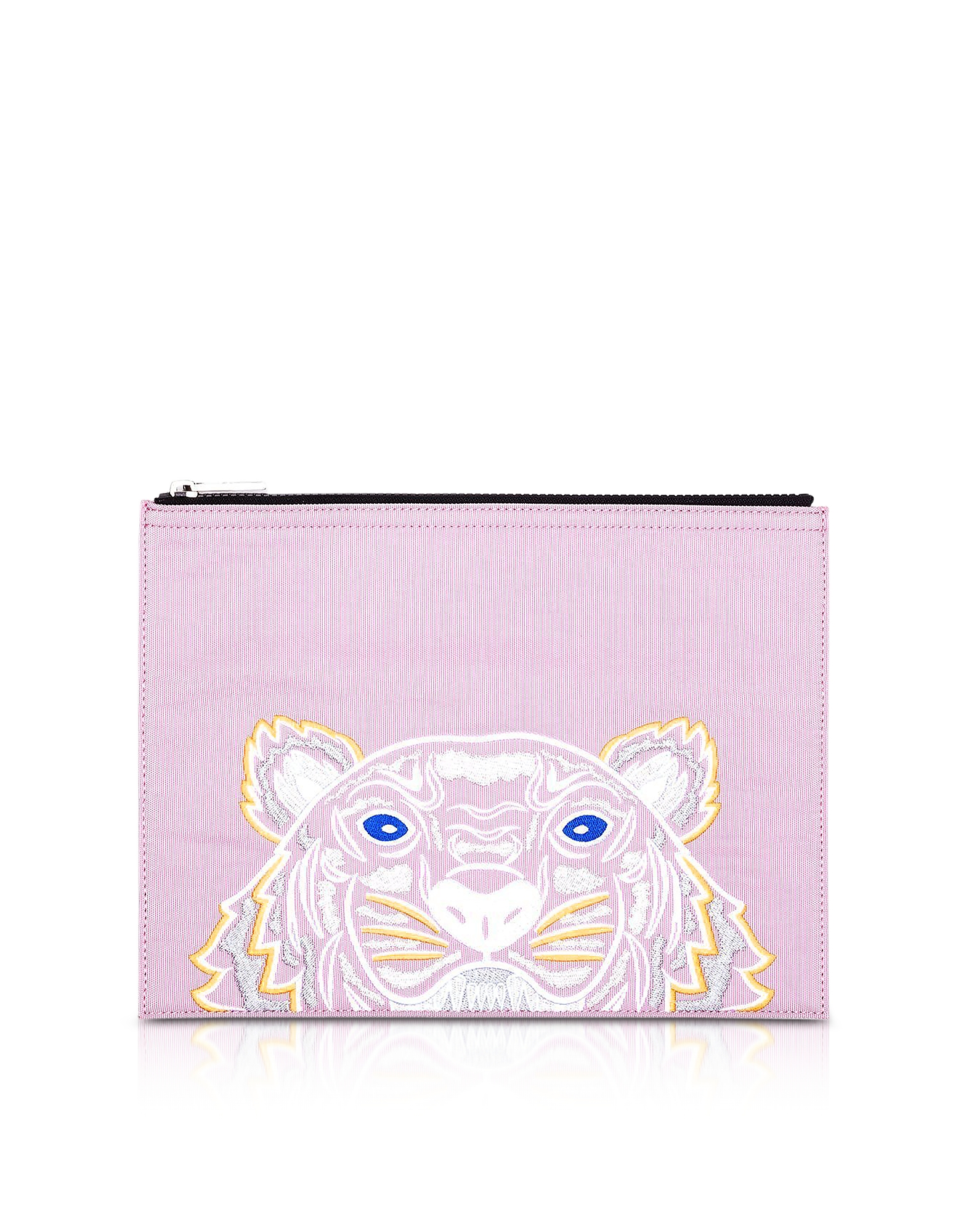 Розовый Клатч А4 из Ткани с Тигром