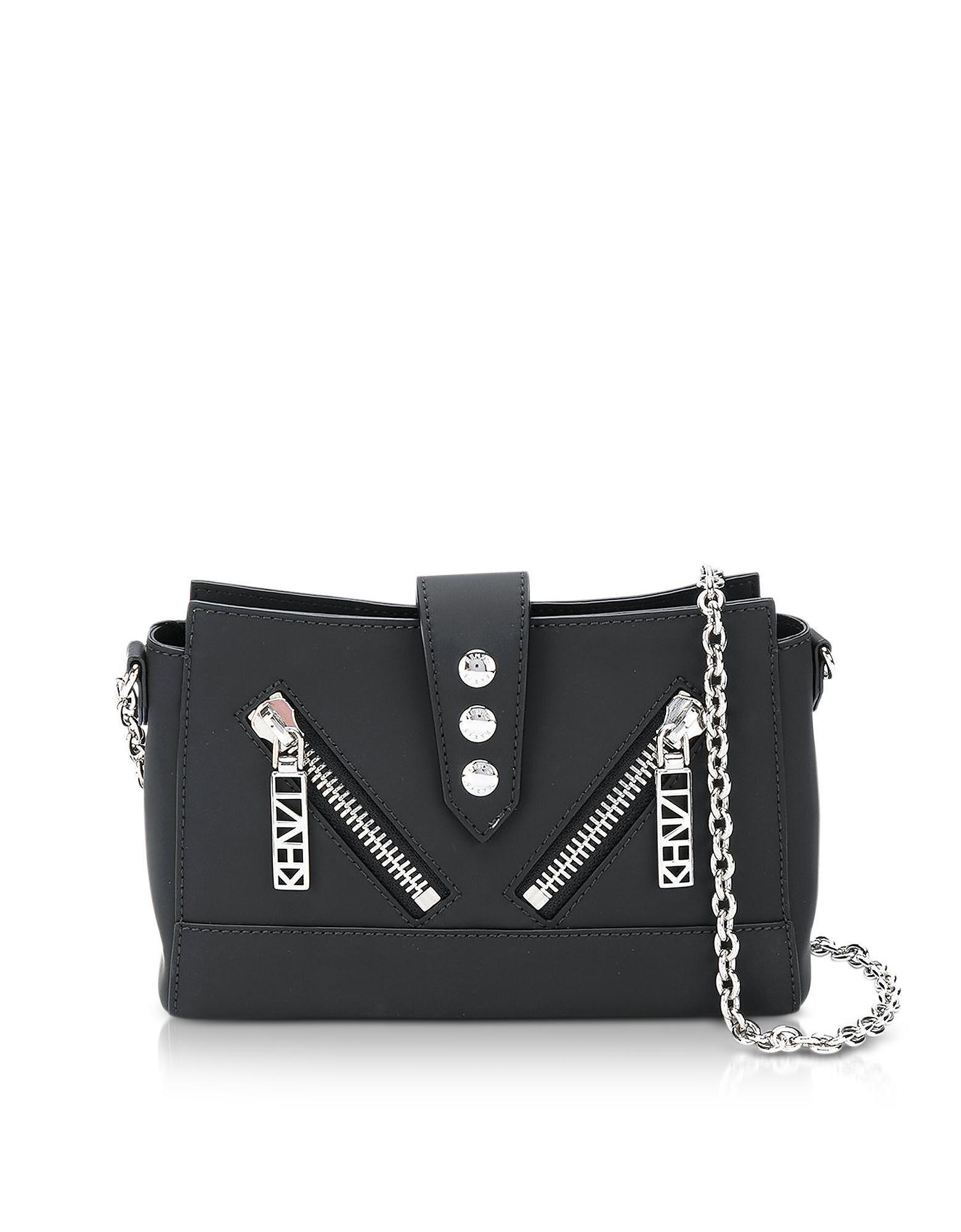 Kenzo Handbags, Black Gommato Leather Tiny Kalifornia Shoulder Bag