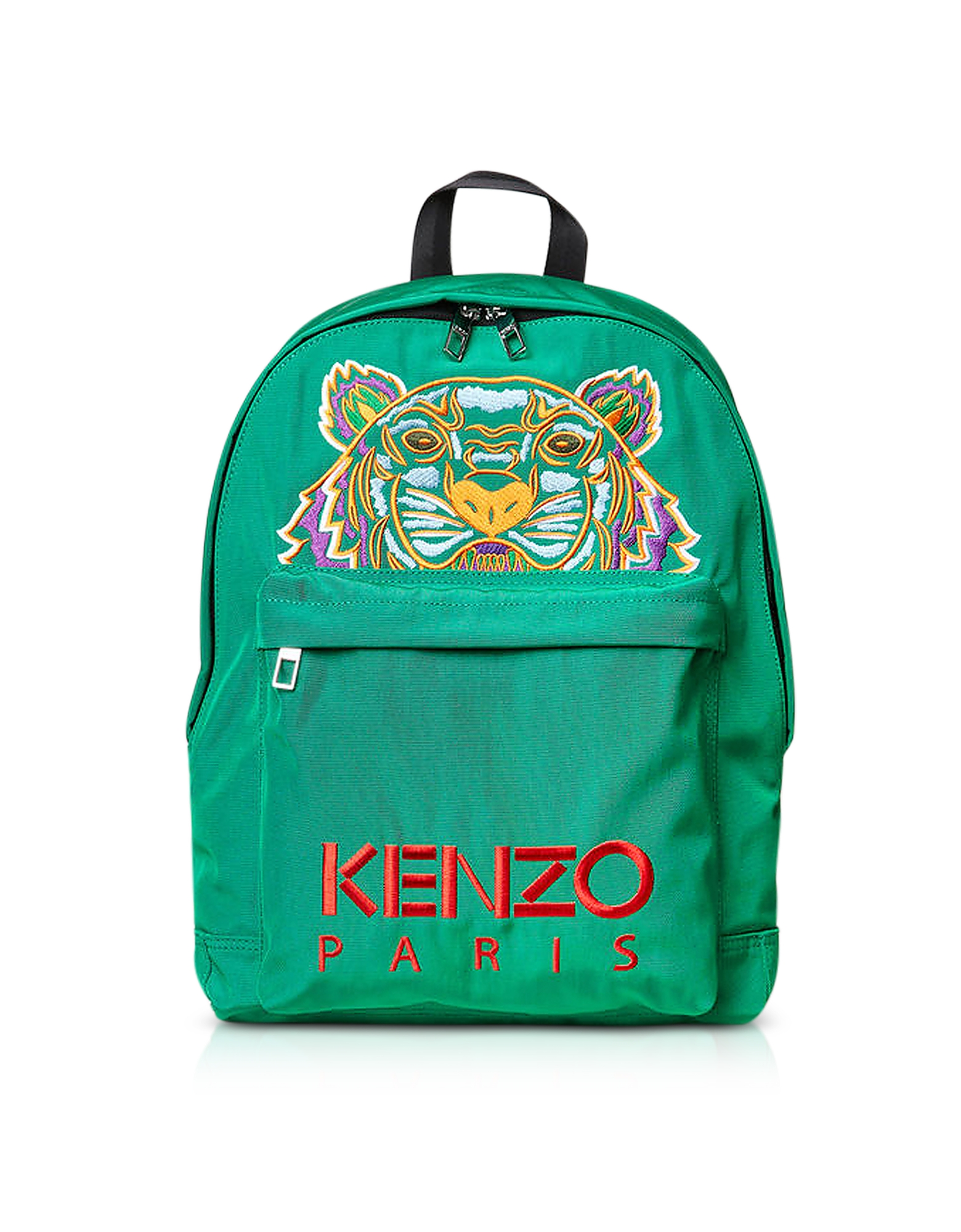 Kenzo Handbags, Grass Green Canvas Large Tiger Backpack