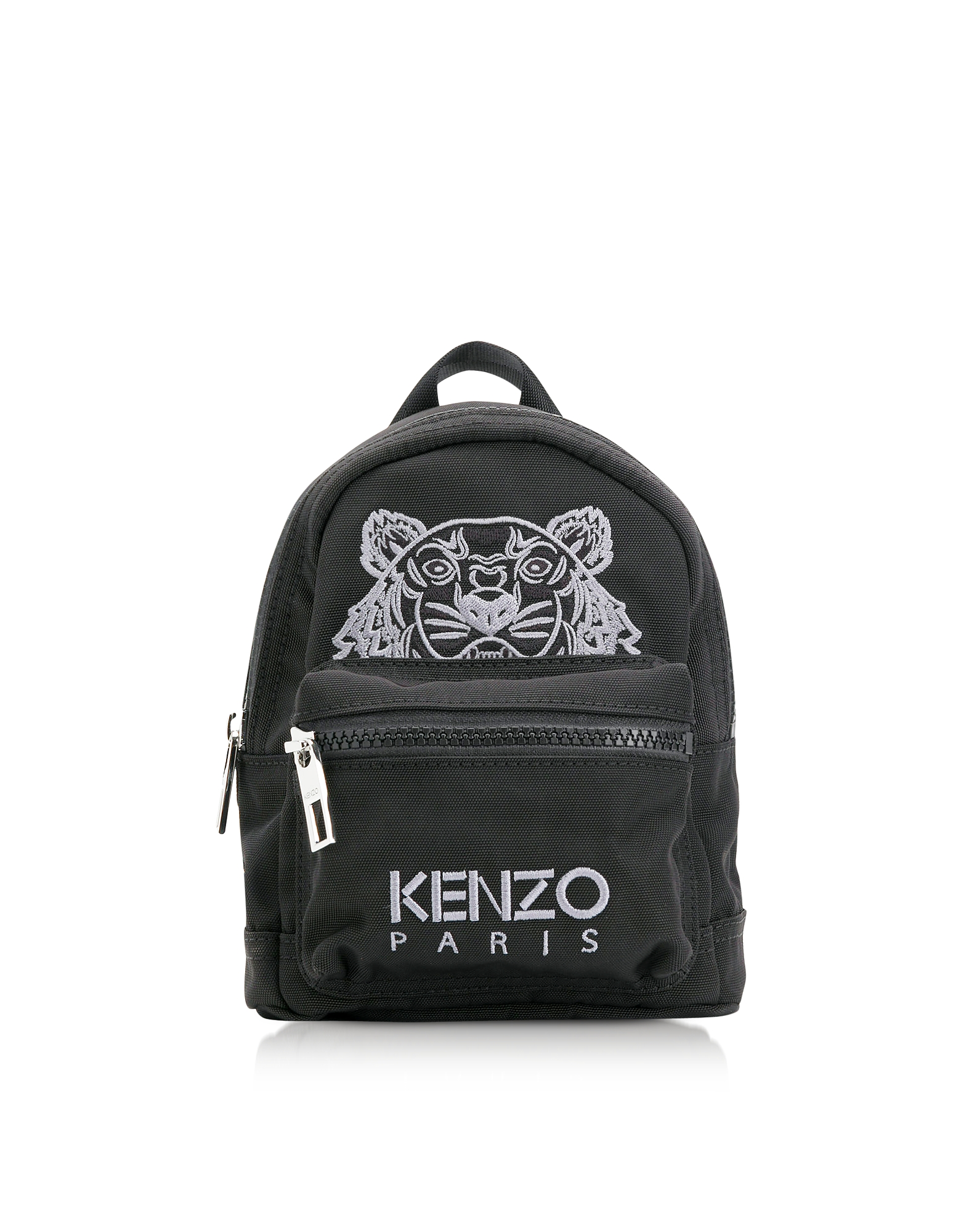 Kenzo Handbags, Black Canvas Mini Tiger Backpack