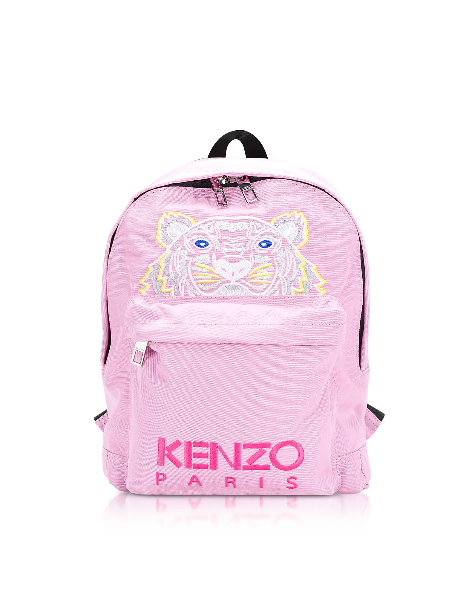 Kenzo Handbags, Flamingo Pink Canvas Medium Tiger Backpack