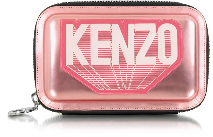 Metallic Leather Kenzo Clutch - Kenzo