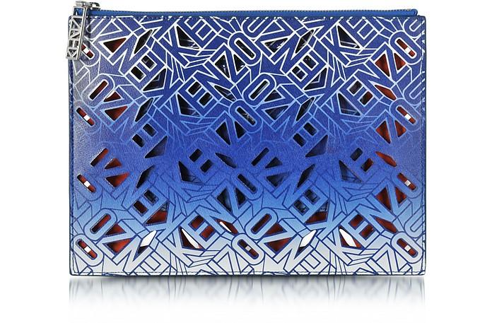 Flying Kenzo Blue Leather Clutch - Kenzo