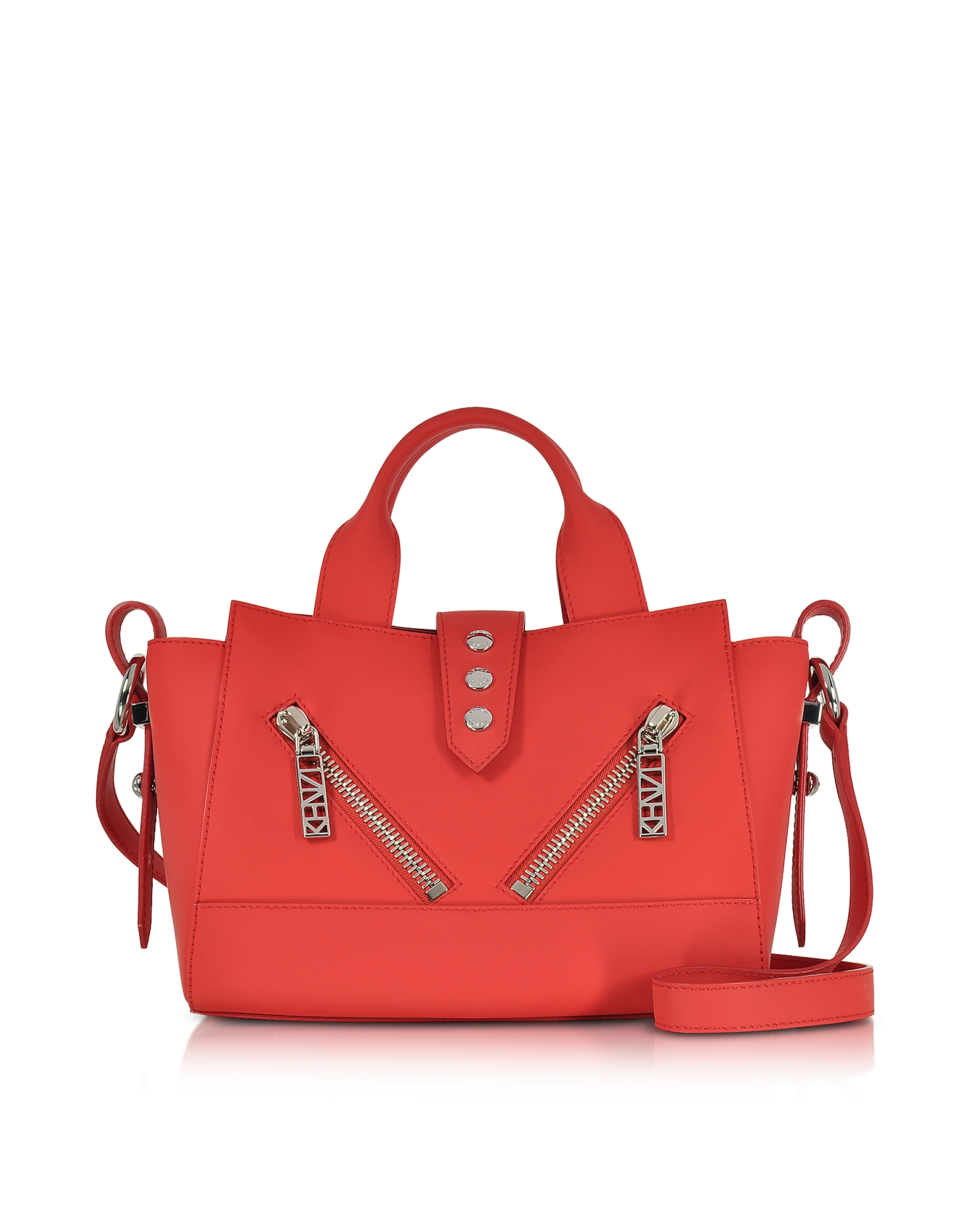 Kenzo Handbags, Fire Red Gommato Leather Mini Kalifornia Handbag