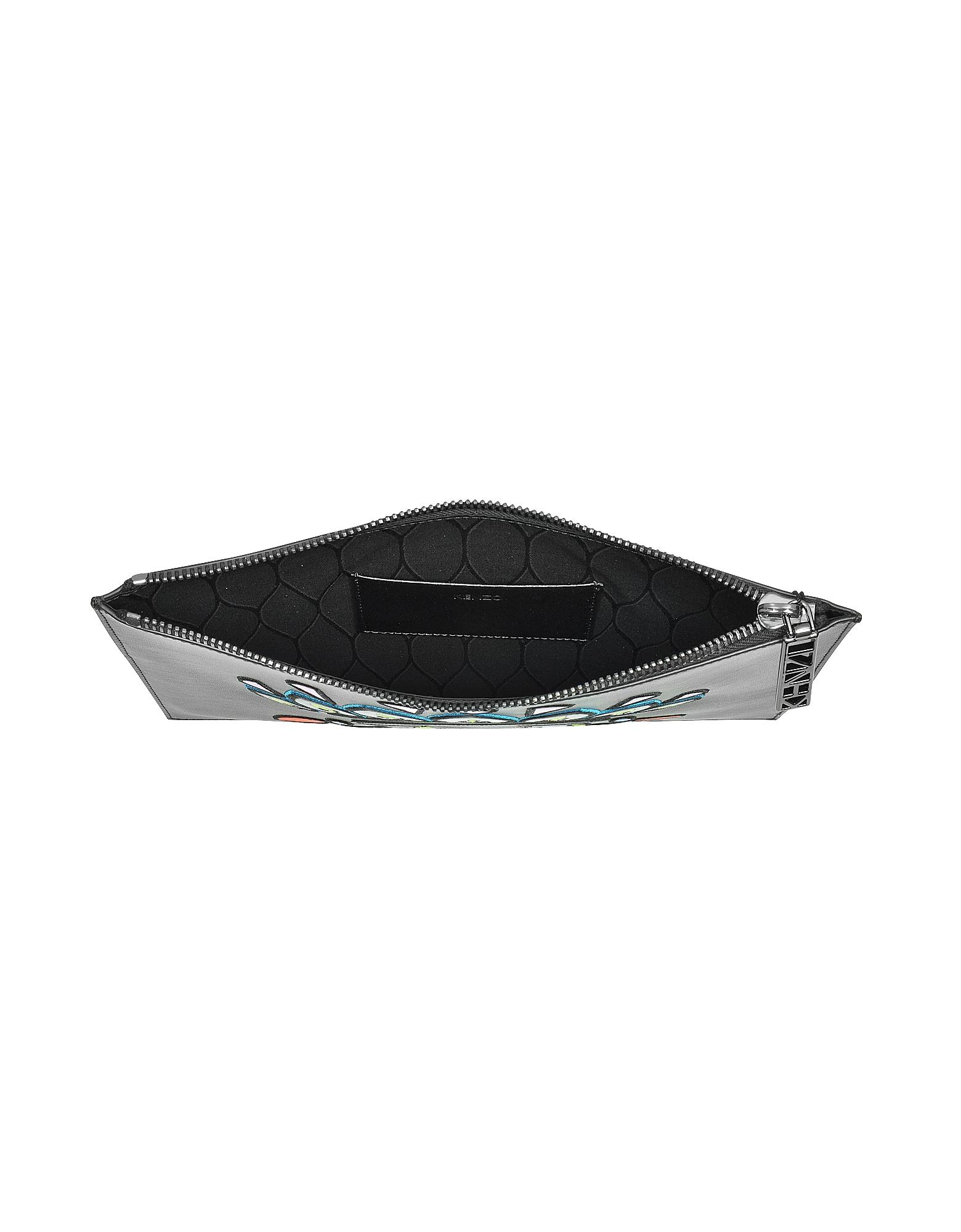 Black Leather A5 Eye Clutch от Forzieri.com INT