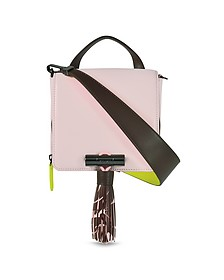 Sailor Light Pink Leather Crossbody Bag w/Rubber Tasssel - Kenzo