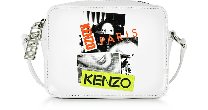 Kenzo Paris White Patent Leather Mini Camera Bag - Kenzo