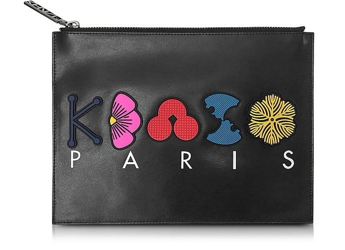 Multicolor Leather Pouch - Kenzo
