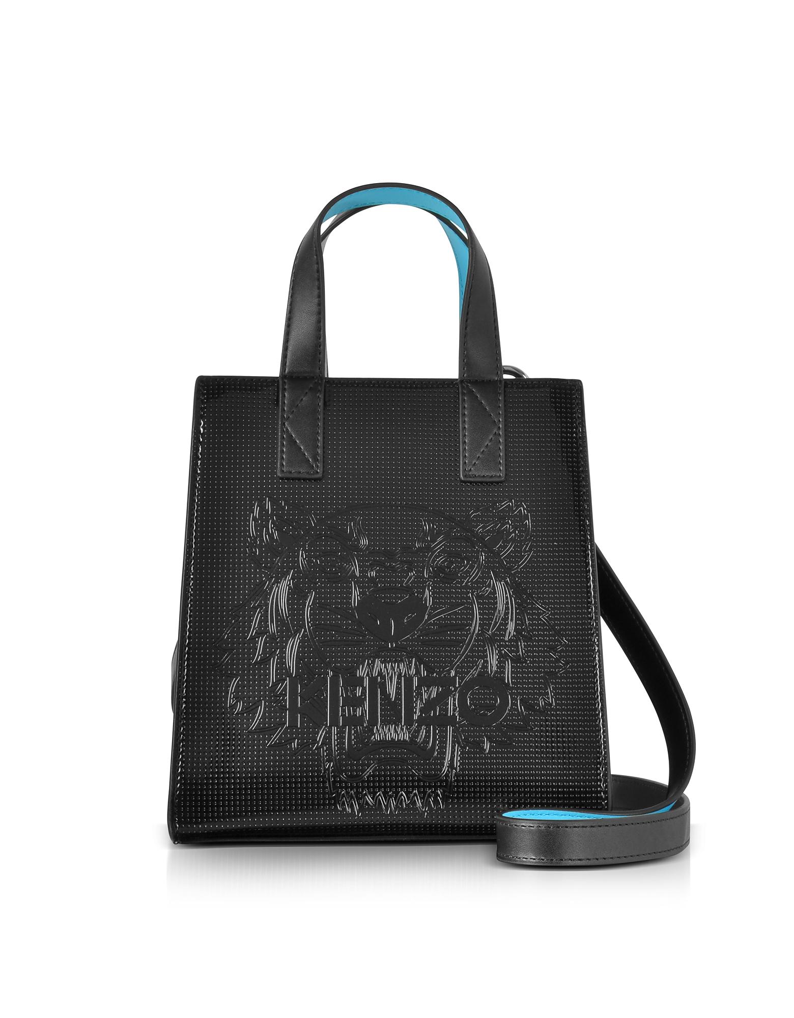 Black Mini Tiger Tote Bag