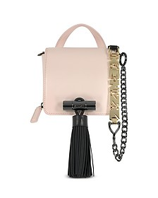 Sailor Faded Pink Leather Crossbody Bag w/Rubber Tasssel  - Kenzo