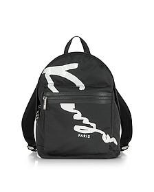 Kenzo Logo黑色面料中号背包 - Kenzo 高田贤三