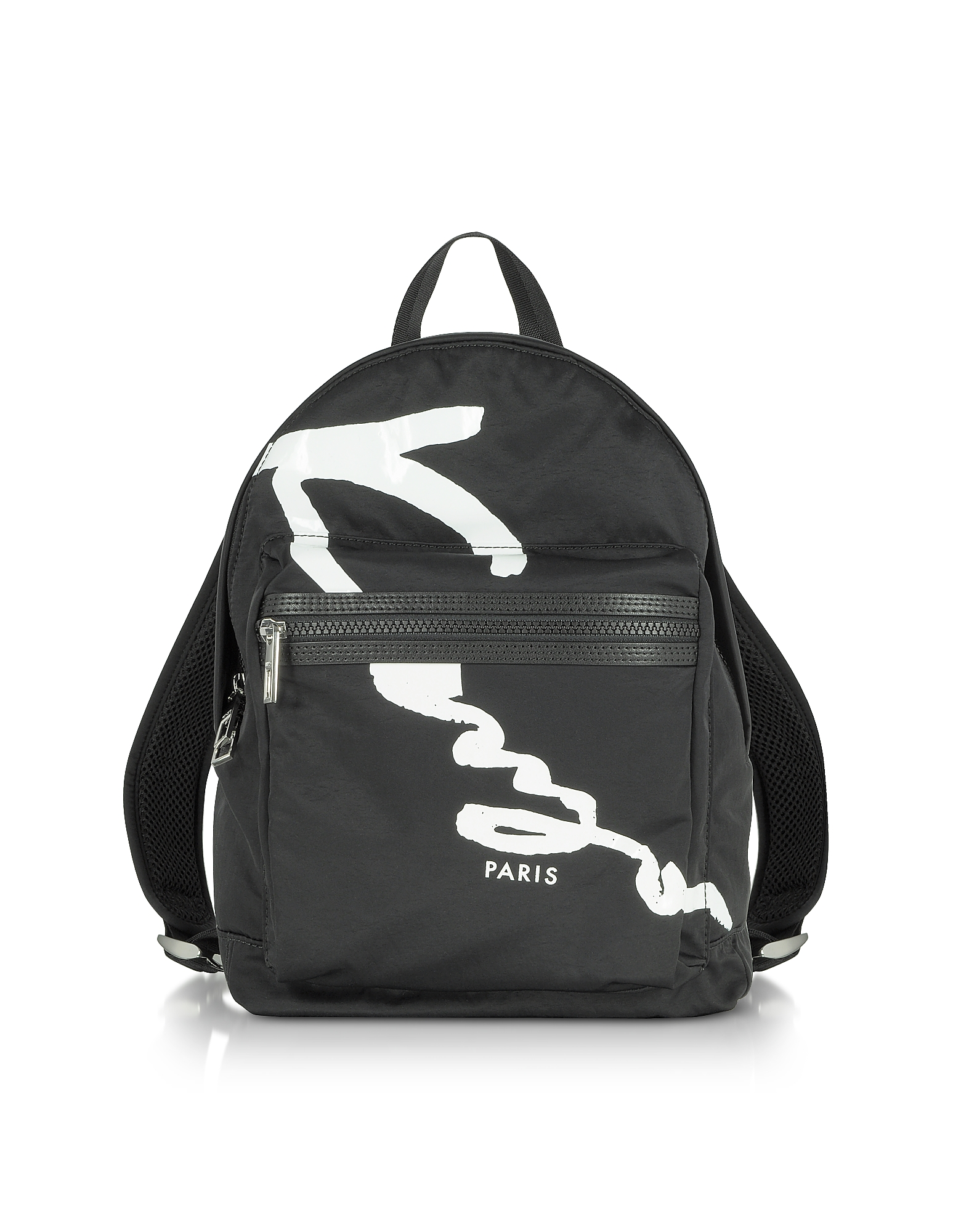 Фото Черный Рюкзак Среднего Размера с Логотипом Kenzo. Купить с доставкой