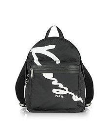 Kenzo Signature Black Fabric Medium Backpack - Kenzo