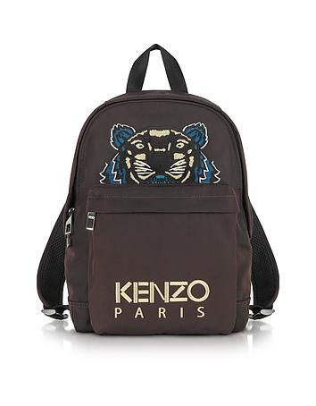 Kenzo - Burgundy Canvas Medium Tiger Backpack