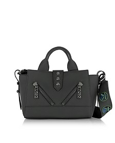 Kalifornia Black Gommato Leather Mini Tote Bag w/Animated Strap - Kenzo