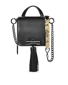 Sailor Black Leather Crossbody Bag w/Rubber Tassel - Kenzo
