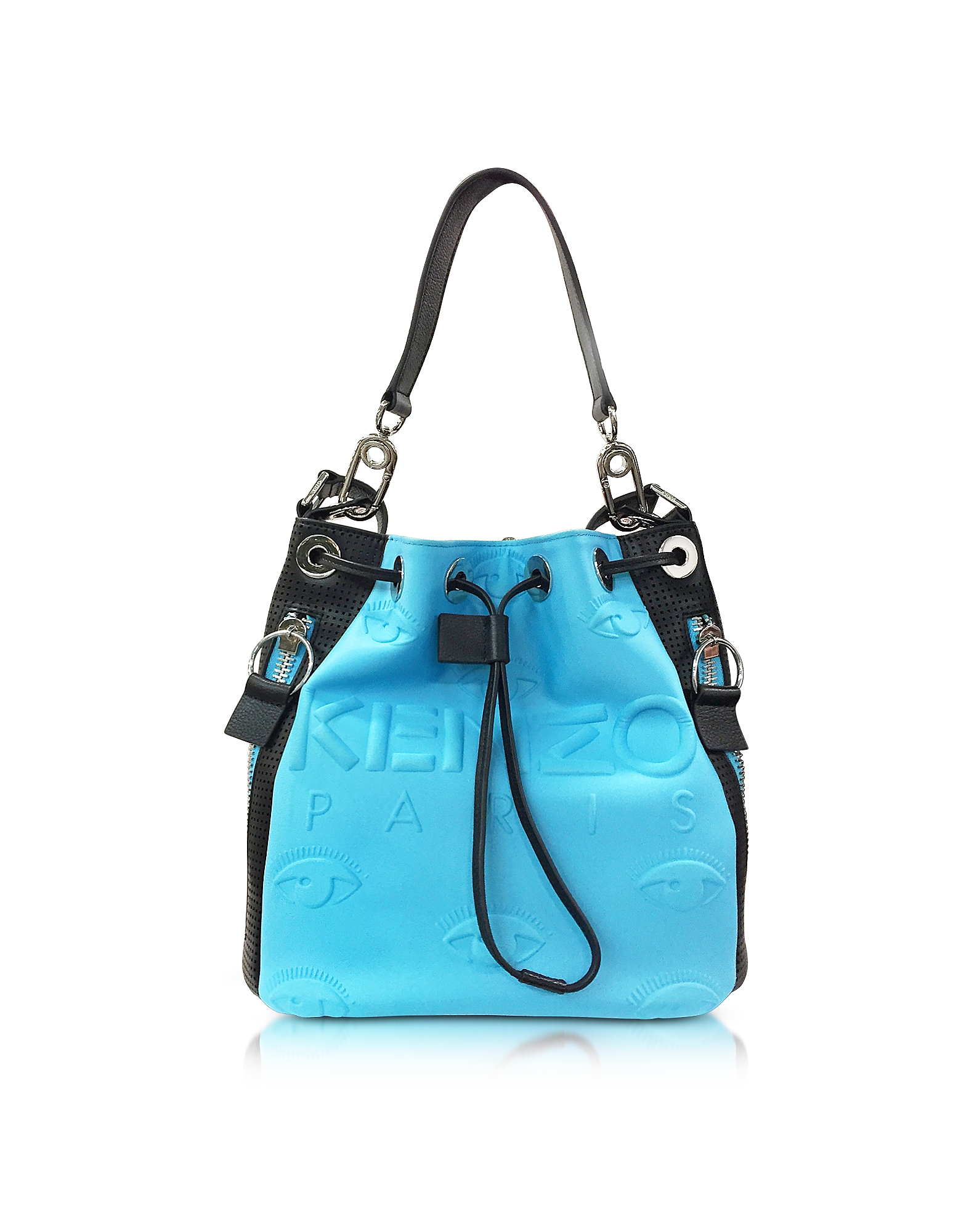 Kenzo Handbags, Kombo Color Block Neoprene Bucket Bag