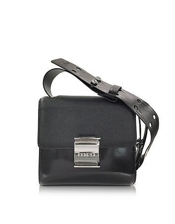 Kenzo - Black Embossed Leather Small Shoulder Bag