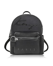 Black Perforated Neoprene and Canvas Backpack - Kenzo