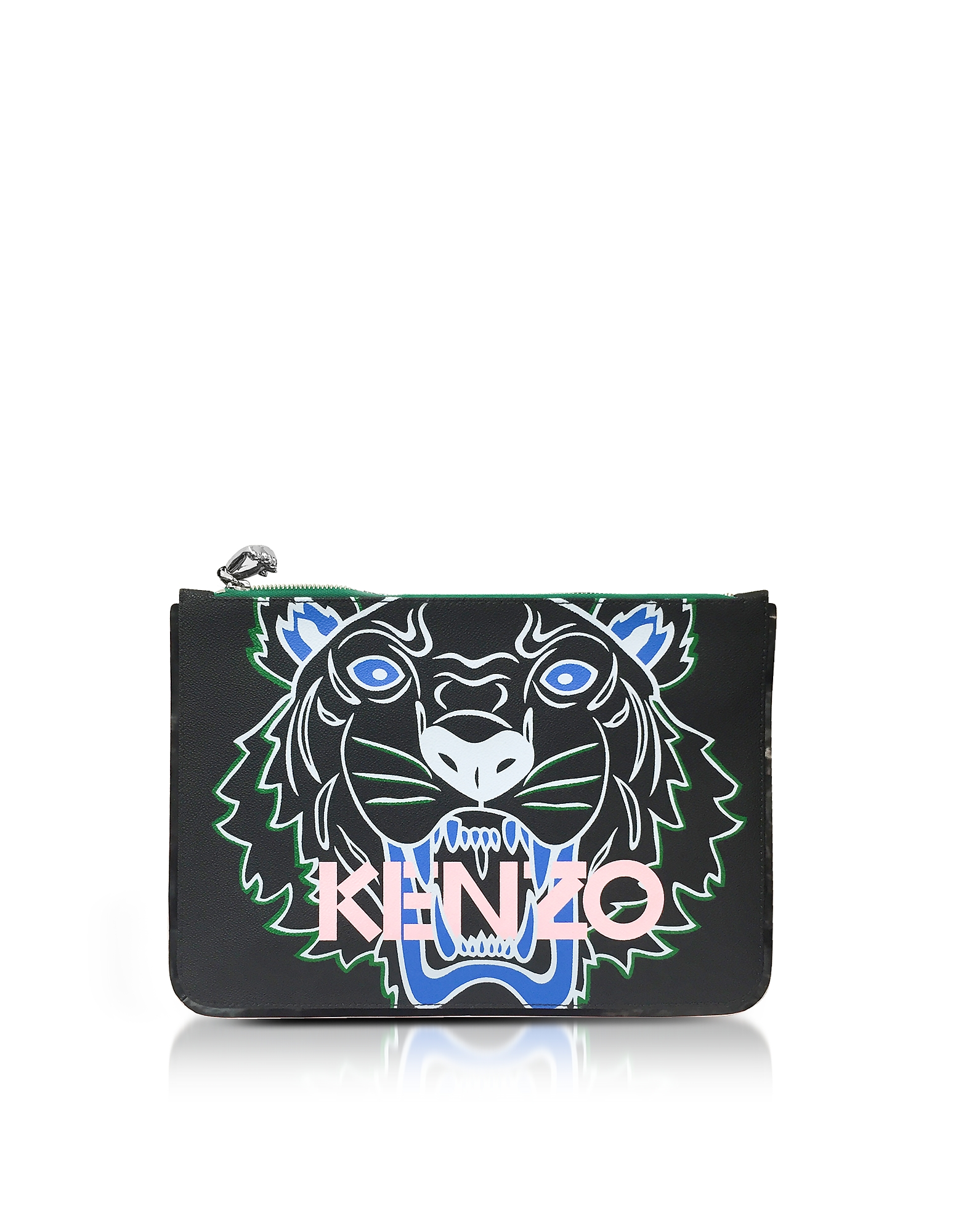 Image of A4 Tiger Clutch in Canvas con Zip