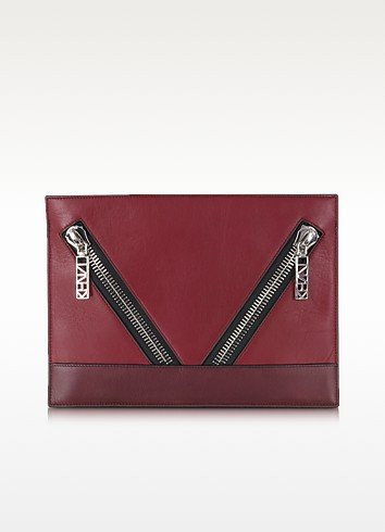 Kalifornia Color Block Leather Pouch - Kenzo