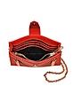 Red Gommato Leather Kalifornia Wallet w/Chain Strap - Kenzo