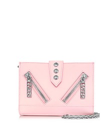 Kalifornia Light Pink Gommato Leather Wallet w/Chain Strap - Kenzo