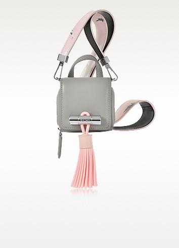 Sailor Mini Light Gray Leather Bag - Kenzo