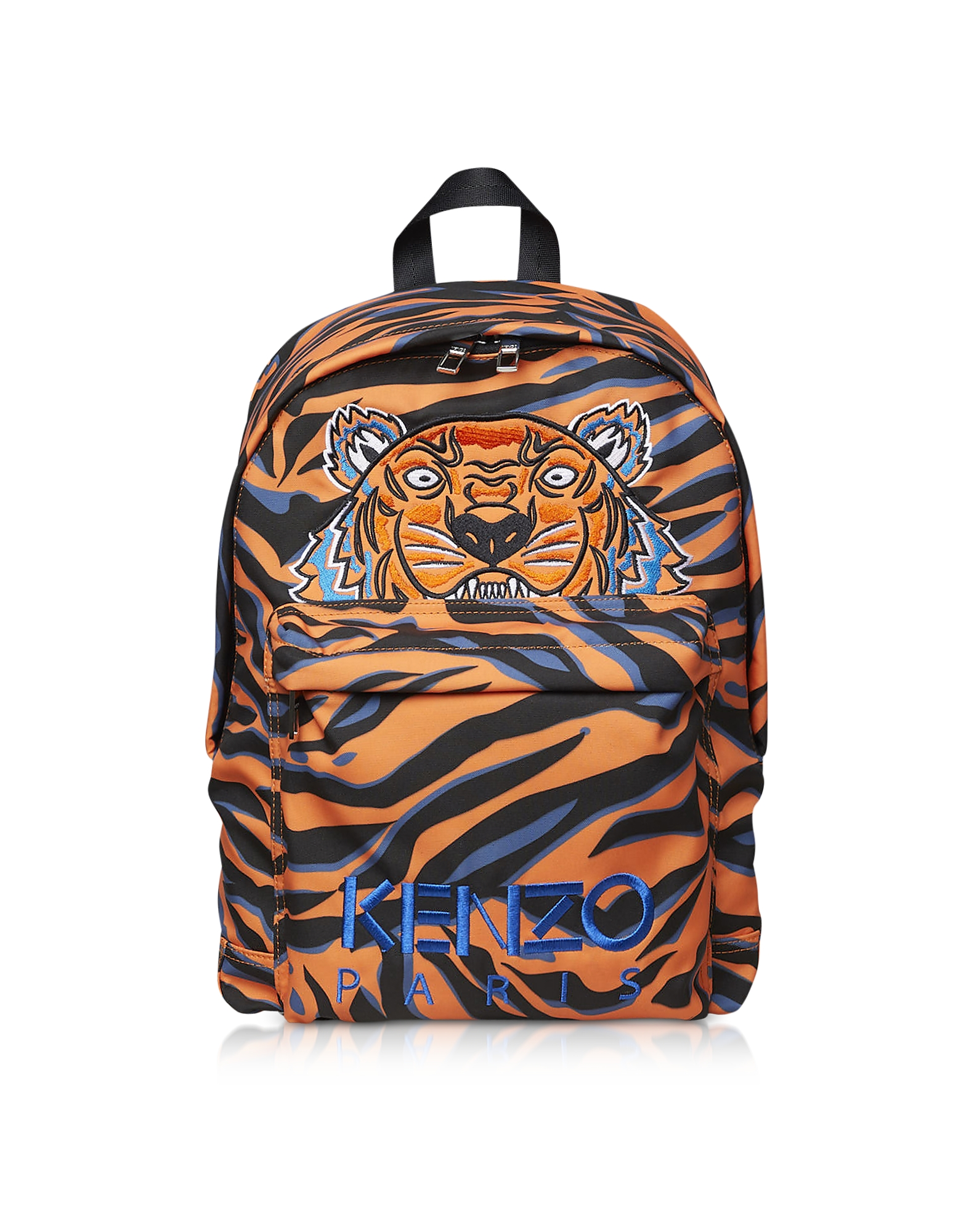 Kenzo Handbags, Orange Printed Nylon Backpack